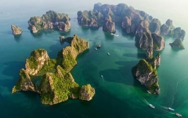 Jonque luxe baie Lan Ha